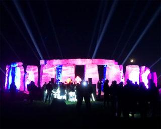 Projektion auf Stonehenge