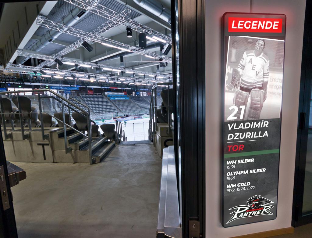 Digital Signage im Eishockey-Stadion