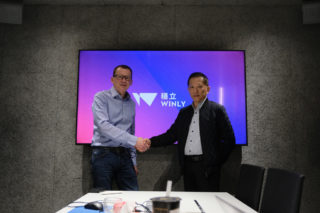 Andreas Mayerl (links, HK Audio) und Andy Chen (Winly)
