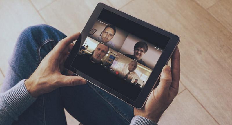 Collaborate auf einem Tablet