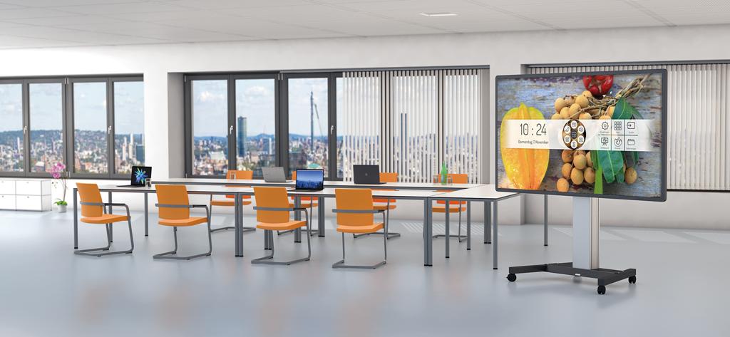 Displaylift im Anwendungsbeispiel in einem Büro