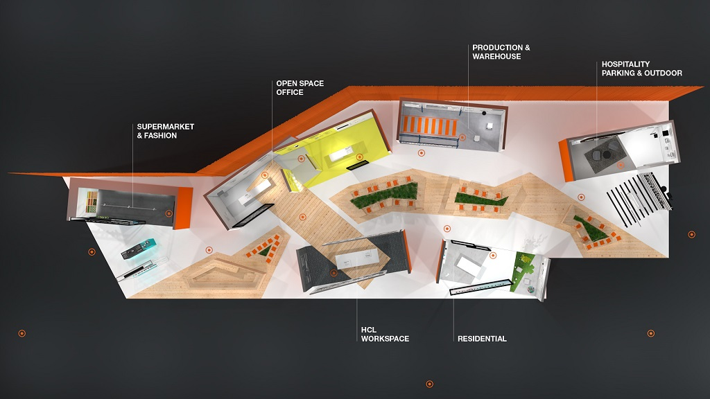 Hotspot_Grundriss_Welcome Desk Ledvance Messestand