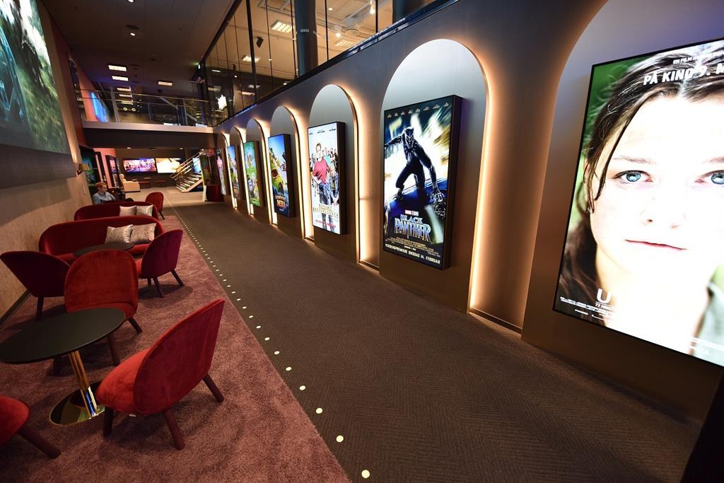 Filminformationen auf Displays