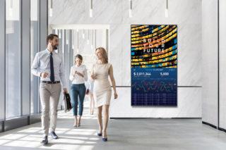 Digital Signage in einem Gebäude