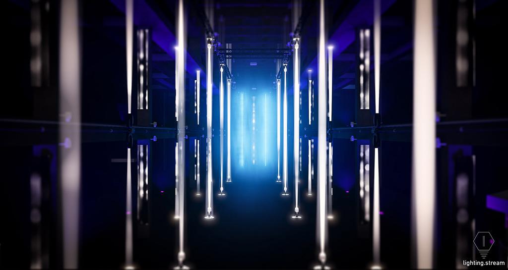 interaktive Licht-Klang-Installation