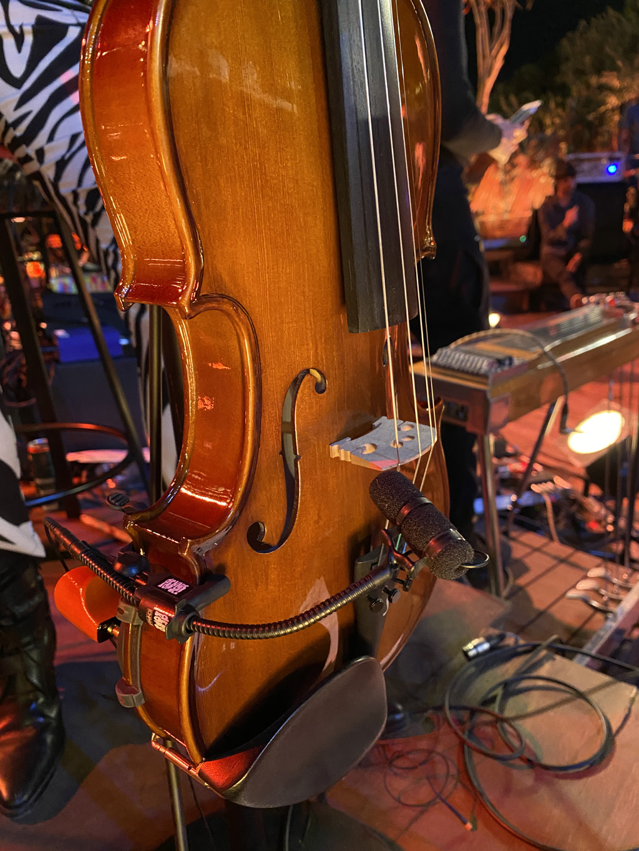 Mikrofon an Instrument