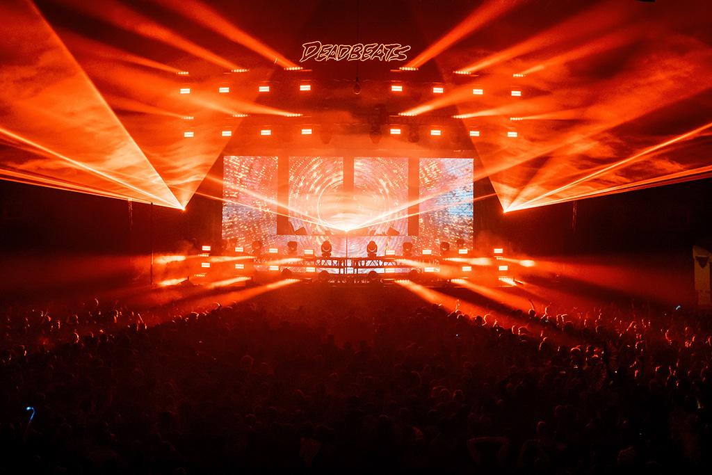 Lichttechnik bei Zeds Dead auf der DeadBeats-Tour