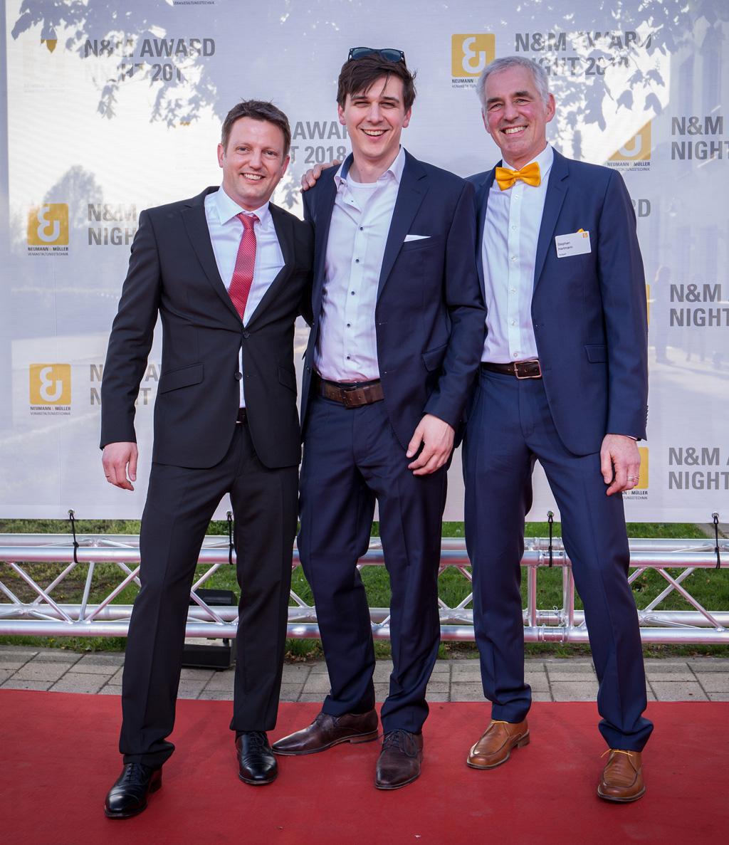 Alex Ostermaier, Christoph Rupieper, Stephan Hartmann (von links nach rechts)