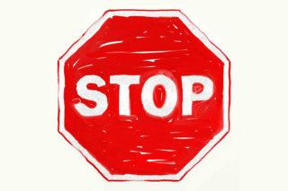 Stop-Schild-Achtung-Verbot