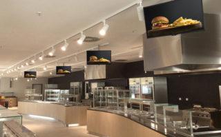 Digital Signage im Schnellrestaurant