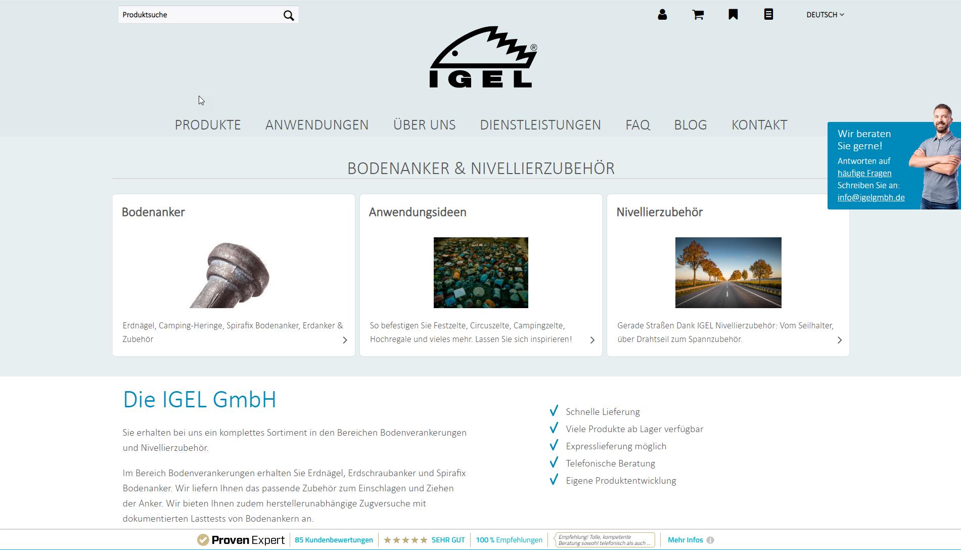 Shop www.igelgmbh.de