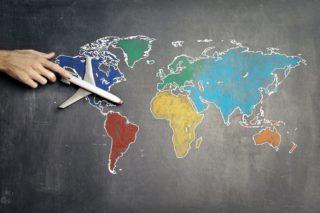 Flugzeug_Weltkarte