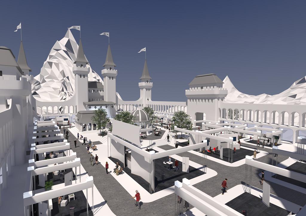 Die digitale Schlossallee von Innen.
