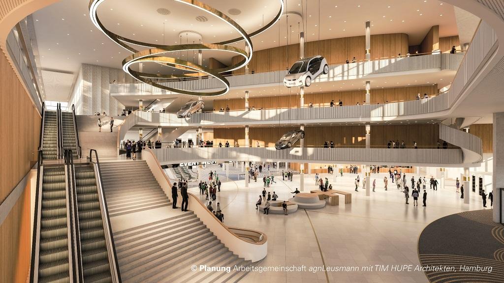 Eingangshalle des CCH – Congress Center Hamburg