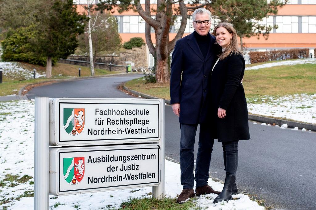 Johannes Molderings und Tochter Hanna Molderings