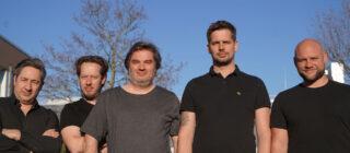 Das Vertriebsteam von SGM (v.l.n.r.: Enzo Canelli, Thorsten Sattler, Thomas Rohwedder, Sascha Werner, Andreas Nicklas)