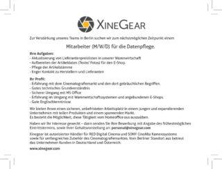 Xinegear Stellenanzeige Datenpflege