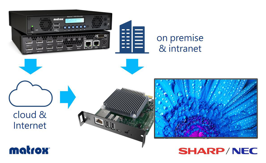 Matrox Streaming & NEC MediaPlayer