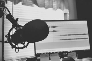 Podcast-Aufnahme-Audio-Mikrofon