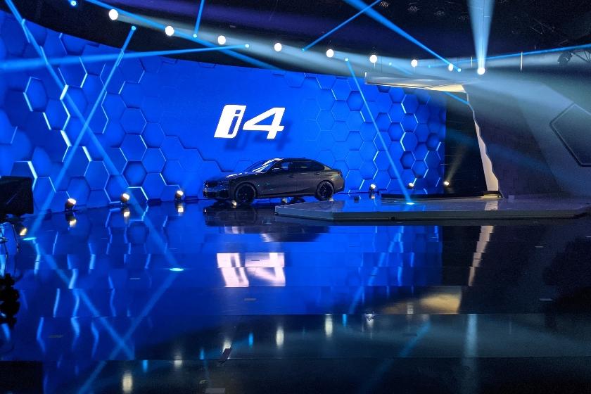 Präsentation des i4 auf der BMW Jahrespressekonferenzen 2021