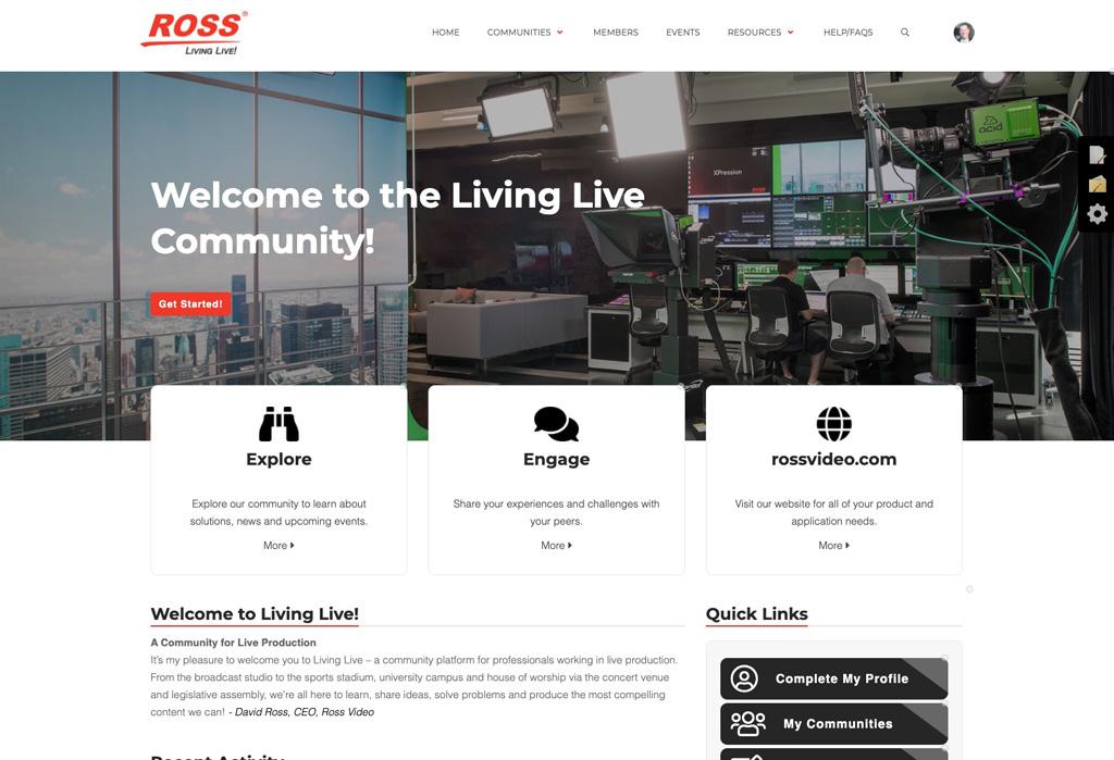 Online-Plattform Ross