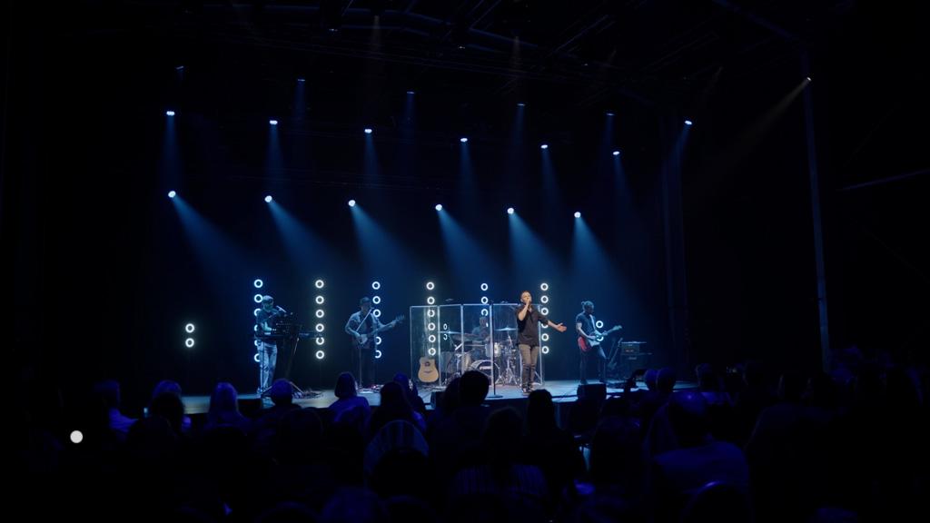 Lichtdesign bei Konzert