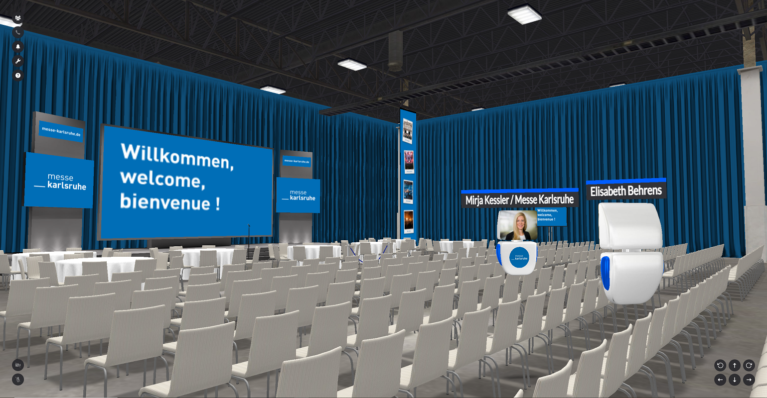 Virtuelle Gartenhalle des Kongresszentrums Karlsruhe