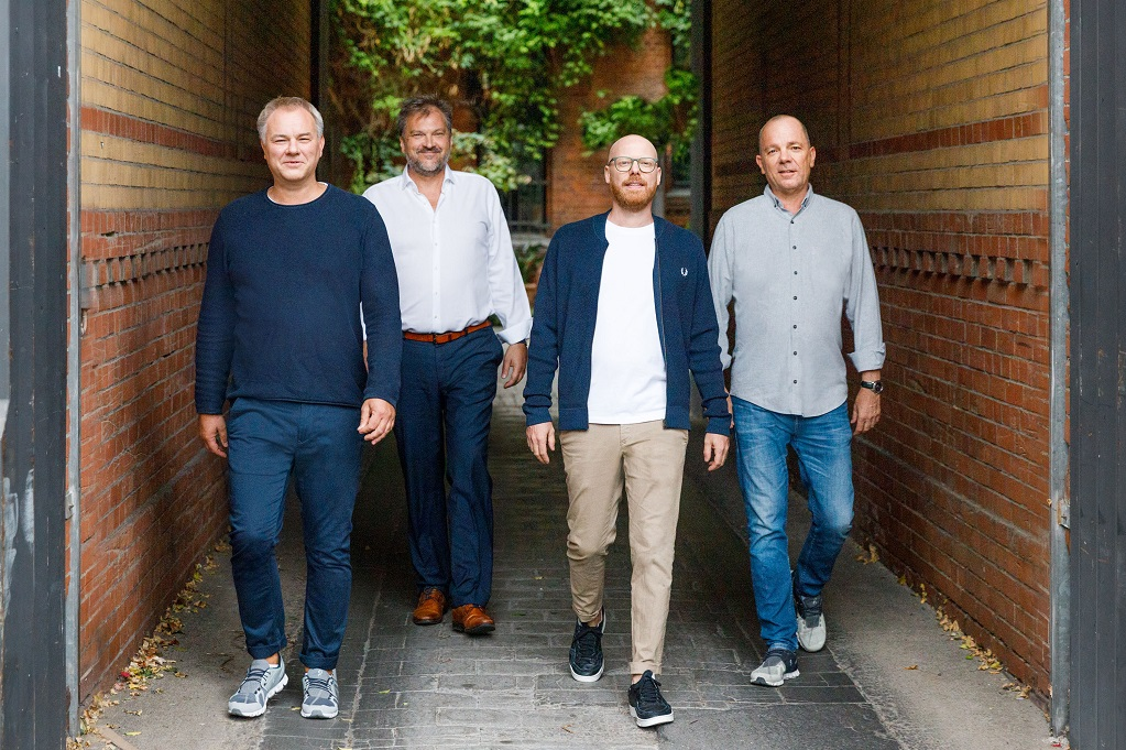 Insglück Management (v.l.n.r): Christian Poswa, Christoph Kirst, Frederik Nimmesgern und Detlef Wintzen