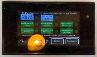 Touchscreensteuerung