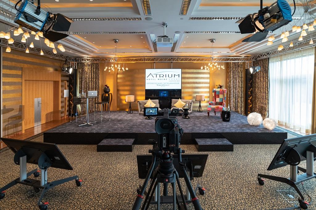 Streaming-Studio im Atrium Hotel Mainz (WorldHotels Collection)