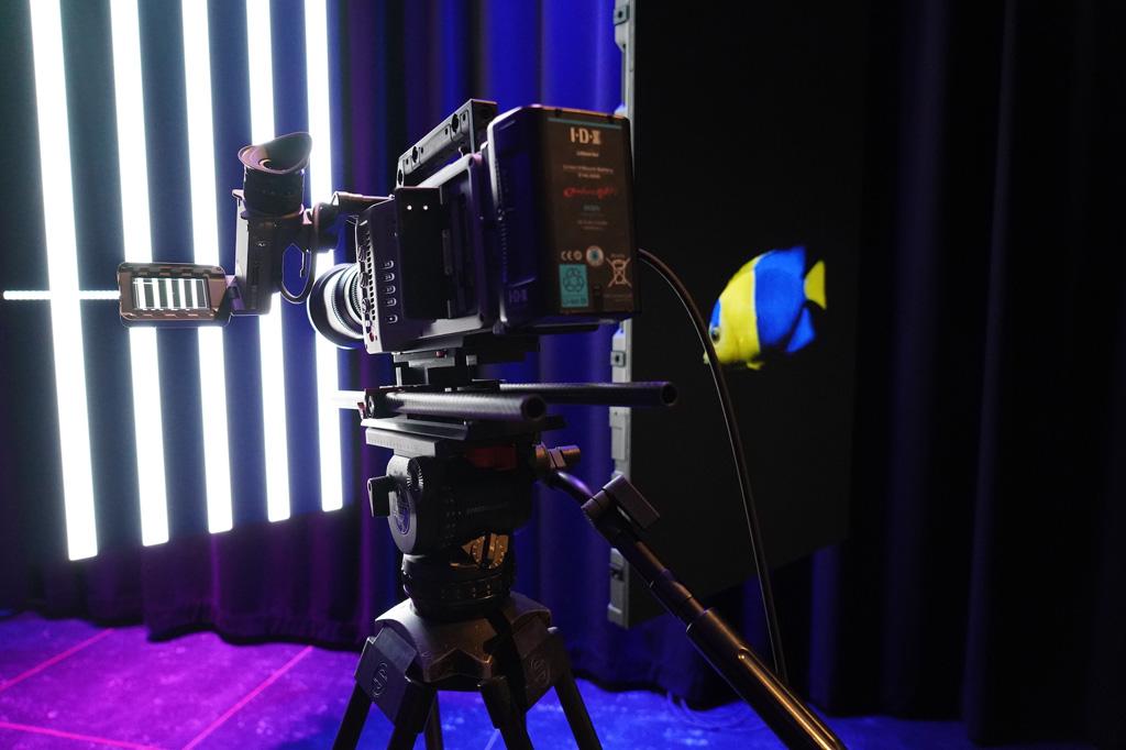 ARRI Kamera im Testaufbau