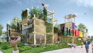 Blick auf den Deutschen Garten auf der Floriade Expo 2022 in Almere