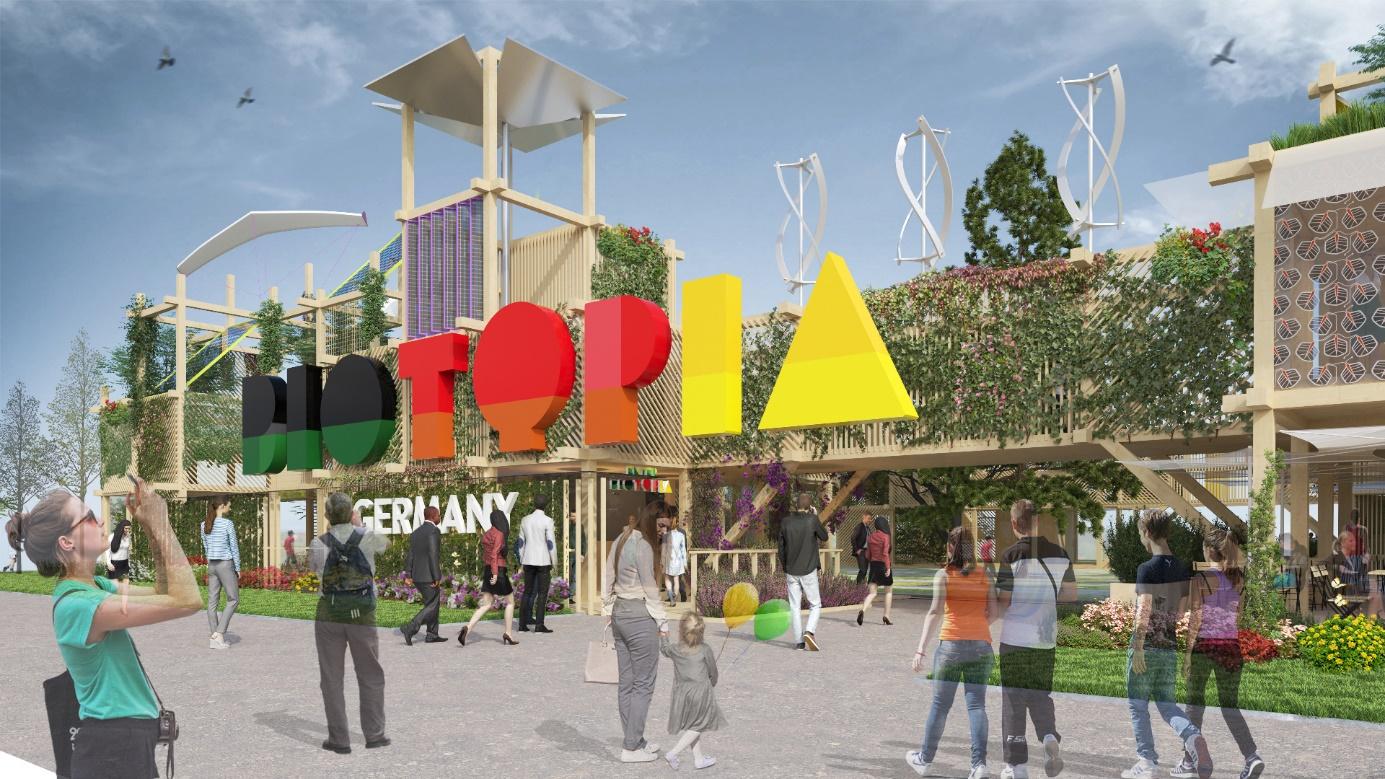 Eingang Süd des Deutschen Gartens auf der Floriade Expo 2022