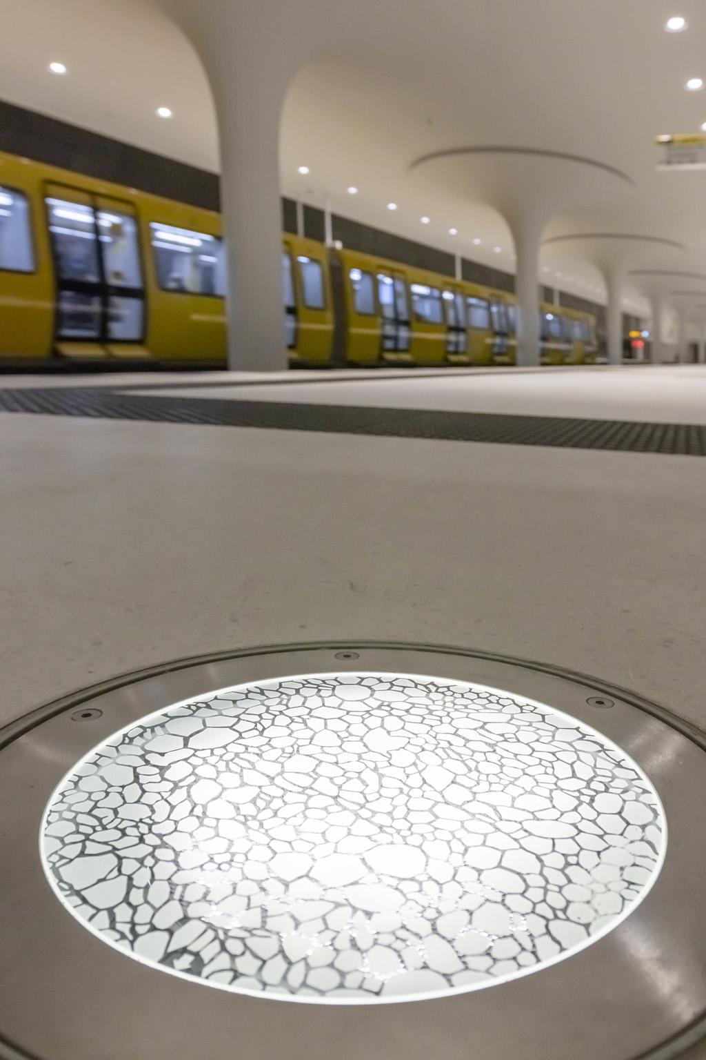 Beleuchtung U-Bahn Station