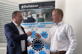 Georg Martin (l.), Chief Communications Officer (CCO) und Christian Linthaler, Head of Sales Austria & Switzerland bei Dallmeier