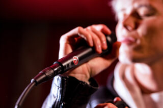 Mikrofon im Einsatz