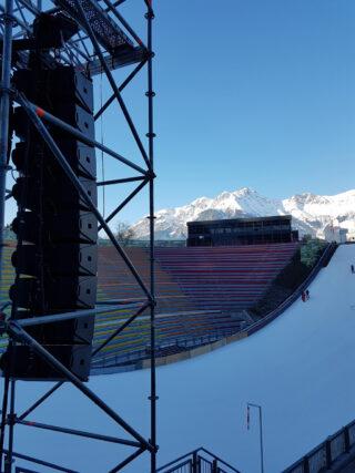 Coda Lautsprecher im Skigebiet