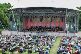 Blick auf die Bühne der Berliner Wuhlheide