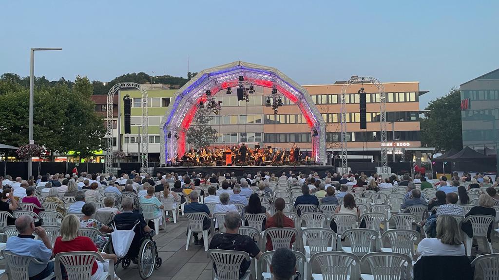Bühne auf dem Homburg Klassik Open Air