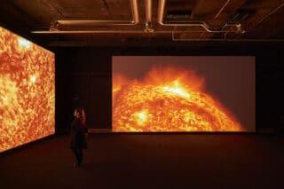 Projektionen in einer Ausstellung
